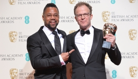 With Cuba Gooding Jr., who presented the award