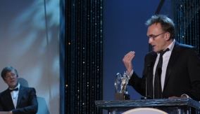 Danny Boyle at the podium