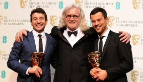 The winners with Billy Connolly