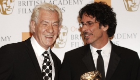 Ian McKellen with Joel Coen