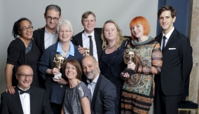 The winners with Mathew Baynton