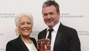 With Lynda Bellingham