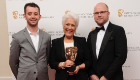 With Lynda Bellingham
