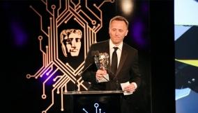 The winner at the podium