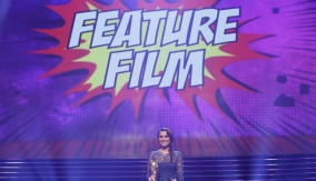 Samantha Barks presents the award