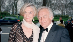 With wife Sheila Hancock