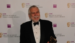 Nolan Bushnell in the Press Room