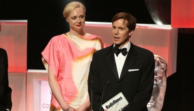 Gwendoline Christie at the Podium