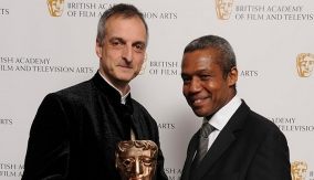Gavin Finney with Hugh Quarshie