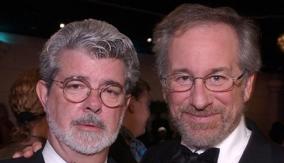Lucas with Steven Spielberg