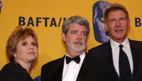 With Carrie Fisher & Harrison Ford