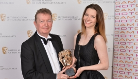 With Talulah Riley