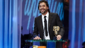 Javier Bardem at the Podium