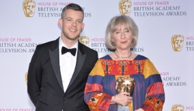 With Russell Tovey