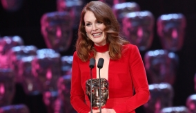 Julianne Moore at the podium
