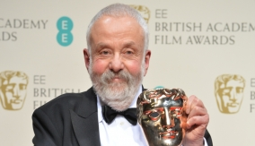Mike Leigh backstage
