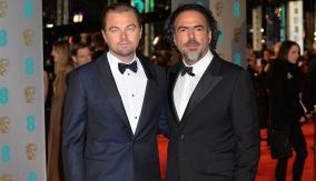 Alejandro G. Iñárritu with Leonardo DiCaprio on the red carpet