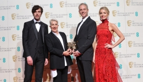 With Tom Hughes and Annabelle Wallis