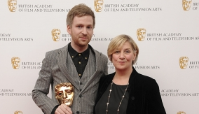 With Victoria Wood