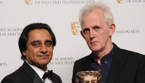 Warbeck with Sanjeev Bhaskar