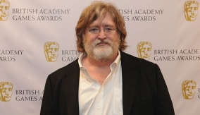 Gabe Newell on the Red Carpet
