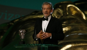 Presenter Ian McKellen