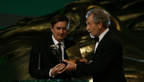 Producer Andy Harries (left)