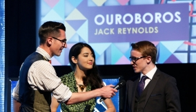 Jack Reynolds accepts his award