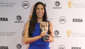Merle Dandridge backstage