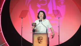 Pippa Harris accepts on behalf of Jonathan Mckinstry & Philip Murphy