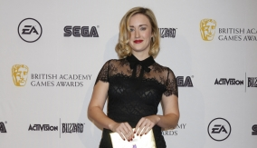 Ashley Johnson backstage