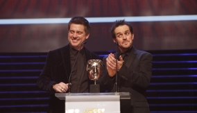 Dick & Dom at the podium