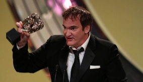 Tarantino accepts his award