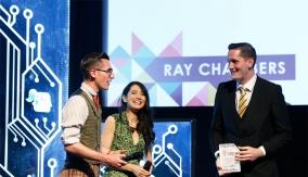 Ray Chambers accepts his award