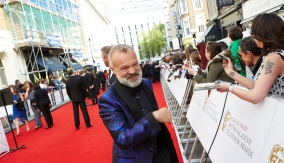 Graham Norton on the red carpet