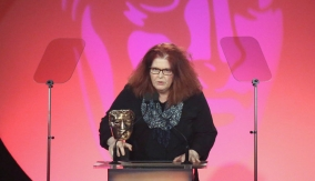 Sally Wainwright at the podium