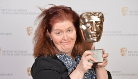 Sally Wainwright backstage