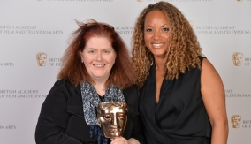 With Angela Griffin