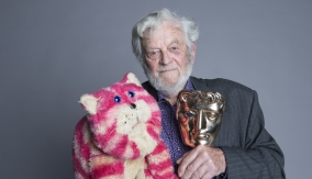 Firmin backstage with Bagpuss