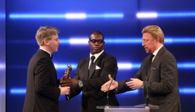 Martin Offiah & Boris Becker