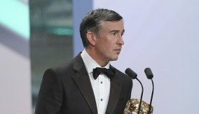 Steve Coogan at the Podium