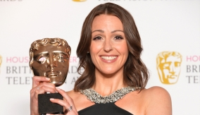 Suranne Jones in the press room