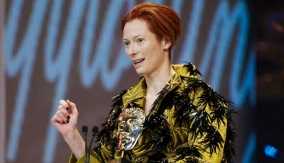 Tilda Swinton at the Podium