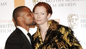 Swinton with Cuba Gooding, Jr.
