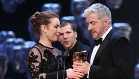 Noomi Rapace and Jesse Eisenberg present the award