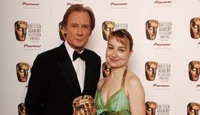 With presenter Bill Nighy