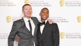 Reggie Yates and Professor Green in the press room