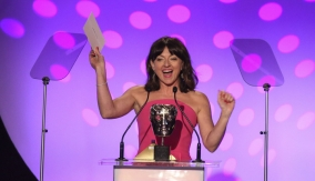 Jo Hartley presents the award