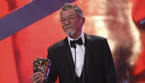 John Hurt at the Podium