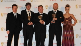 Toby Stephens & Miranda Raison with the winners